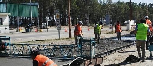 Obras de mejoramiento del puesto de barrera en el km 714